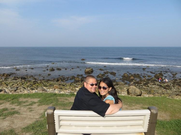 Enjoying the ocean breeze at Point Judith
