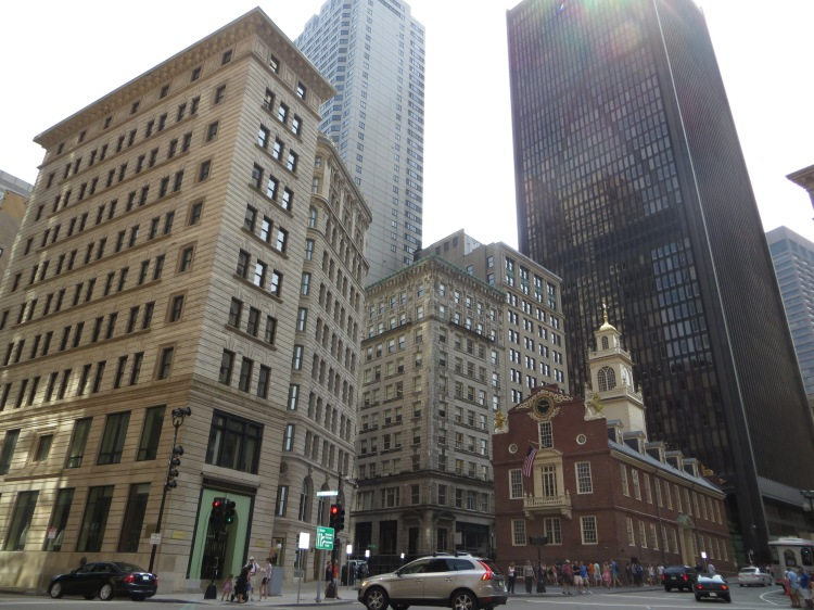 The Old State House and a few other interesting buildings in Boston