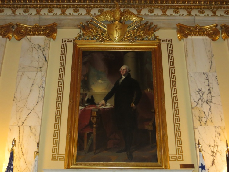 An original portrait of George Washington by Gilbert Stuart