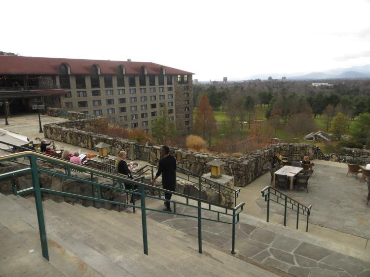 A terraced landscape at The Omni Grove Park Inn