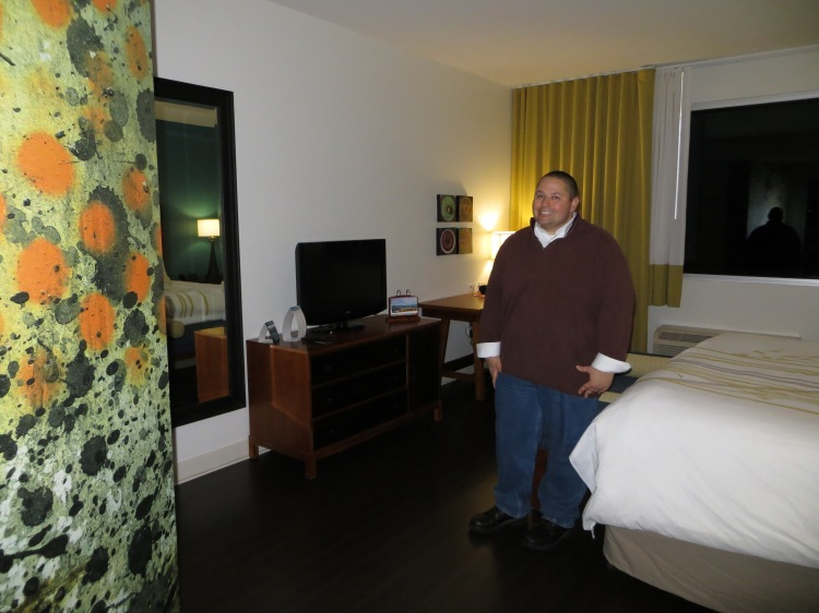 Our room at the Hotel Indigo in Asheville