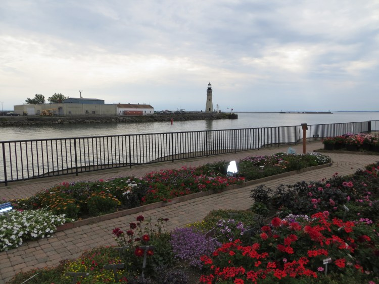 The Erie Basin Marina Gardens, with the lighthouse in the backgroun