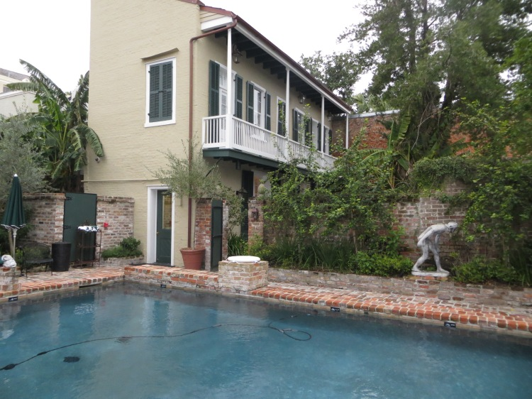 Outdoor heated saltwater pool at the Audubon Cottages complex