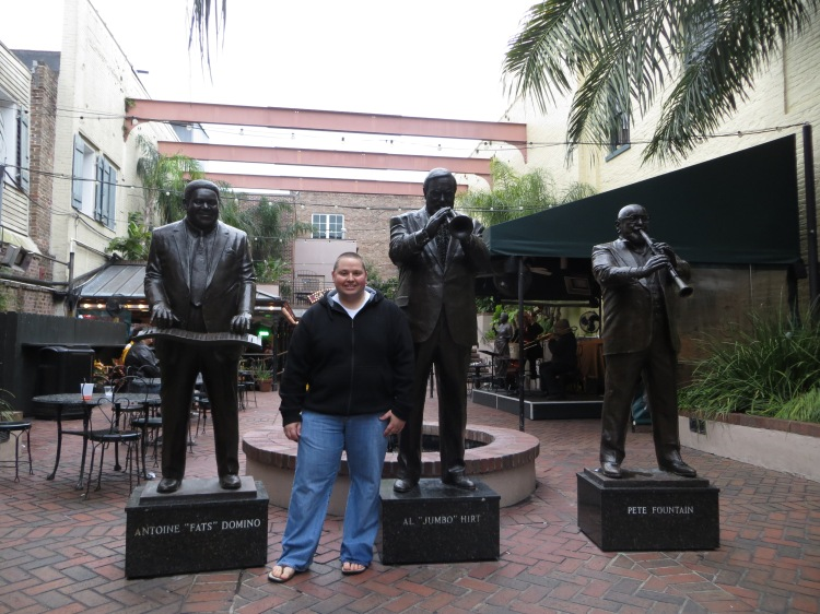 Life-size bronze statues greet visitors at the front of the Musical Legends Park
