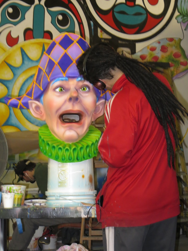 An artist working on a new figure