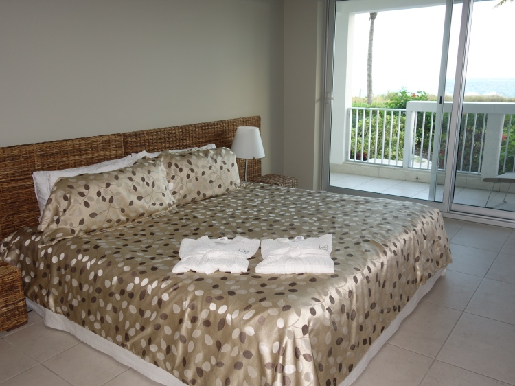 At night time we enjoyed sleeping on this king-sized bed while enjoying the ocean breeze