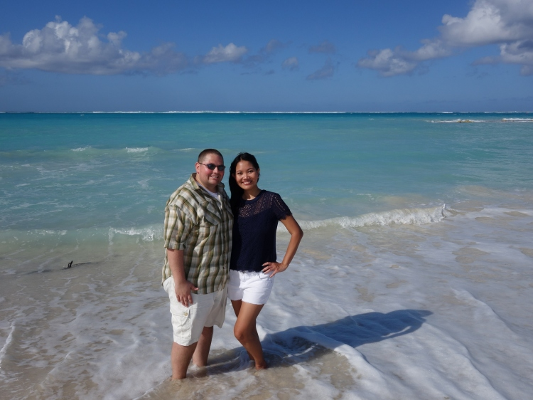 Nanette and Johnny on Little Water Cay