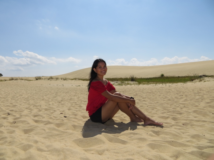A little break was necessary after trekking up and down the sand dunes.