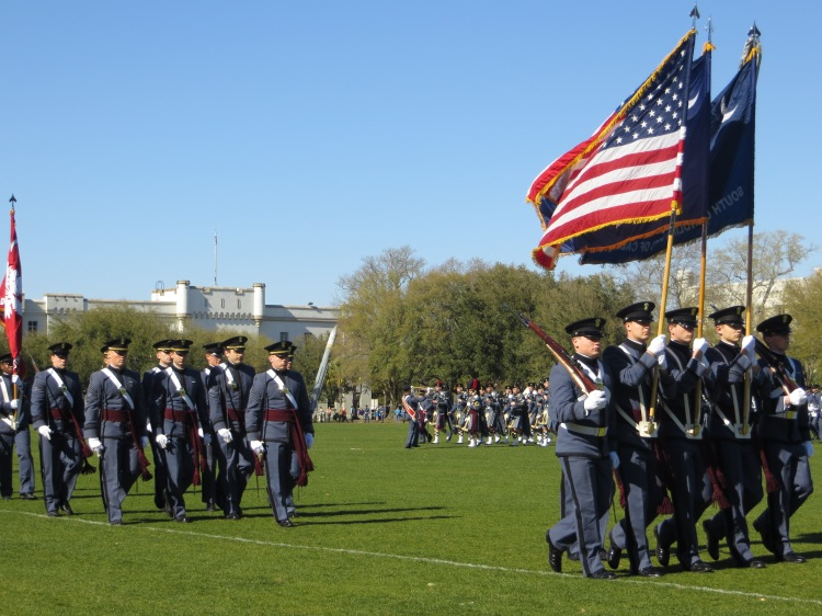 The Citadel's parade, Charleston, SC