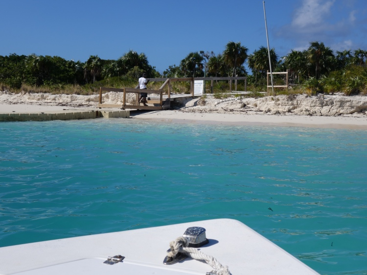 Arriving on Little Water Cay