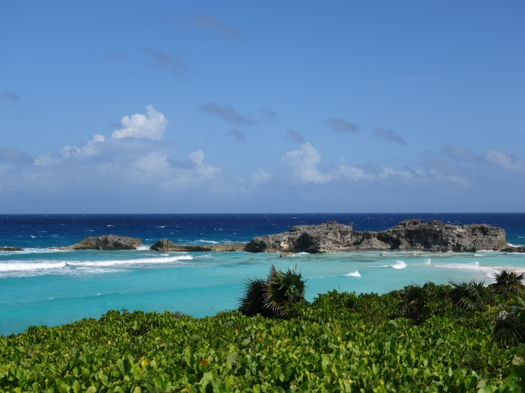 View of Dragon Cay from top of the hill