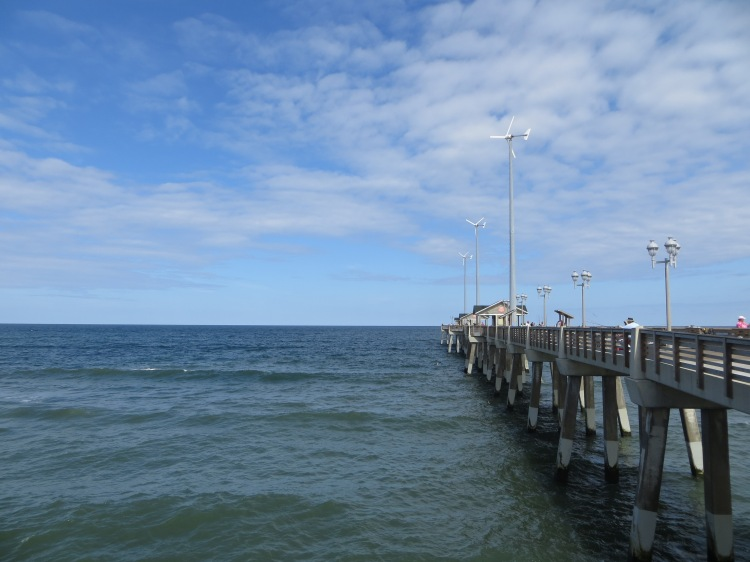 The 1000-foot-long Jennette's Pier is equipped with 3 wind turbines that can provide up to half the facility's electric needs
