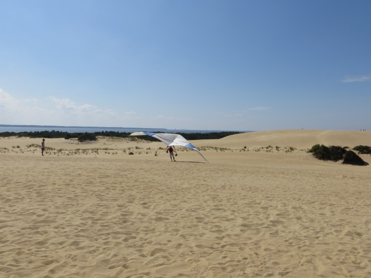 The wind and tall sand dunes at Jockey's Ridge make it a perfect spot for hang-gliding