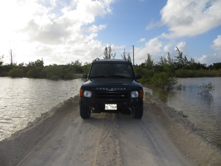 Half of the fun was the journey itself.  Here we were crossing over a pond to find a beach.