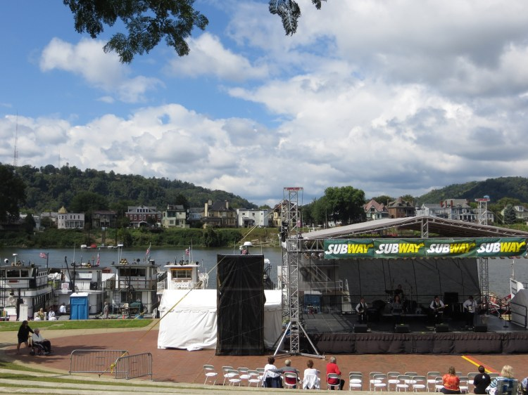 The waterfront amphitheater hosts numerous festivals during the summer months.