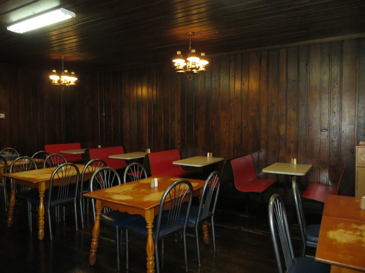 The dining room was designed to look like the original restaurant.