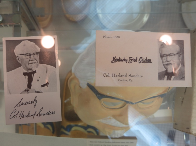 Colonel Sanders' business card