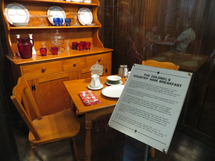 This maple hutch was used as a storage when the Cafe opened in 1940.